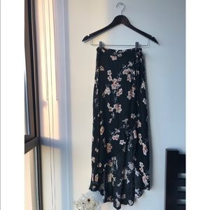 American Eagle Floral Tie Skirt